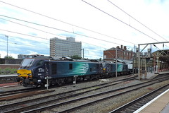 "88008""Ariadne""+88001""Revolution"" (mike_j's photos) Tags: crewe class88 drs directrailservices 88001 88008 ariadne revolution"
