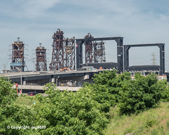 Four Bridges over the Hackensack River, Kearny-Jersey City, New Jersey (jag9889) Tags: 2019 20190609 conrail construction eisenbahnbrücke fluss gardenstate hackpathbridge hackensackriver harsimus hudsoncounty jerseycity k039 k040 k041 k895 kearny movable nj newjersey newjerseydepartmentoftransportation outdoor railroad railroadbridge replacement river road roadbridge strassenbrücke usa unitedstates unitedstatesofamerica wasser water waterway wittpennbridge jag9889