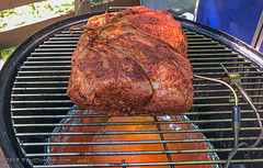 Pork Shoulder after 30 minutes with air & meat digital temp probes (Paul Diming) Tags: midlothianvirginia spring bbq webercharcoalgrill smokedporkribs webersmokeymountainsmoker wsm porkribs hickorysmoked iphone8plus kingsfordcharcoalbriquettes dailyphoto virginia ribs chesterfieldcountyvirginia webersmokeymountaincooker webergrill charcoalbriquettes chesterfieldcounty d7200 webersmokeymountaincookersmoker pauldiming midlothian unitedstatesofamerica