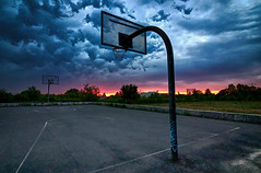 (TeeB83) Tags: canoneos80d eos80d weitwinkel wideangle sunset sonnenuntergang basketballbasket basketball basketballkorb canonefs1018mmf4556isstm efs1018mmf4556isstm
