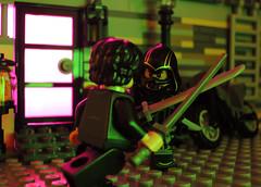 Ronin Showdown (-Metarix-) Tags: lego minifig avengers endgame superhero ronin hawkeye marvel cinematic unvierse custom