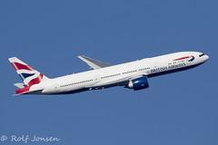 G-VIIG Boeing 777-200ER British Airways Heathrow airport EGLL 26.02-19 (rjonsen) Tags: plane airplane aircraft aviation airliner flying flight trippleseven oneworld banking feltham park