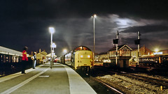 in the wee small hours... (stephen mcgahon) Tags: deltic doncaster 55013 theblackwatch train railway night moonlight