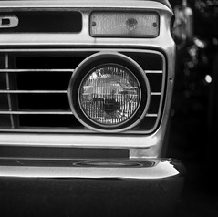 1974 or 1975 Ford F-150 (David Helvering) Tags: headlight blackandwhite f150 ford yashicamat124 yashica mediumformat 120film tmax100 kodak film