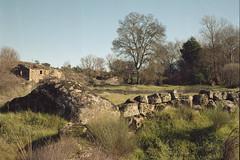 Near Peroviseu (lebre.jaime) Tags: portugal beira peroviseu vicinity hasselblad 500cm distagon cf3560 v600 affinity affinityphoto analogic mf middleformat film120 kodak portra160120 countryside scenery wall building tree grass