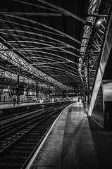 leeds rail copy- on1 (douglasjarvis995) Tags: ricoh grii 18mm leeds yorkshire rail railway train station platform light dark shapes