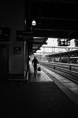 R0104014 copy- on1 (douglasjarvis995) Tags: leeds yorkshire mono monochrome bnw street station train rail railway
