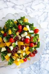 Kale Greek Salad (Pamela Greer) Tags: cooking food greek kale salad