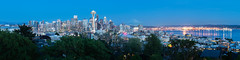 Coming Out (Michael Muraz) Tags: 2018 kerrypark northamerica seattle usa unitedstates wa washington world bluehour city cityscape dusk skyline town twilight