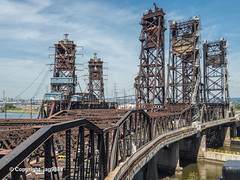 The Triple Bridges over the Hackensack River, Kearny-Jersey City, New Jersey (jag9889) Tags: 2019 20190609 conrail eisenbahnbrücke fluss gardenstate hackpathbridge hackensackriver harsimus hudsoncounty jerseycity k039 k040 k041 kearny movable nj newjersey newjerseydepartmentoftransportation outdoor railroad railroadbridge river road roadbridge strassenbrücke usa unitedstates unitedstatesofamerica wasser water waterway wittpennbridge jag9889