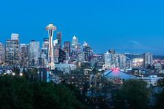 2019 Seattle 001 (Michael Muraz) Tags: 2018 kerrypark northamerica seattle usa unitedstates wa washington world bluehour city cityscape dusk skyline town twilight