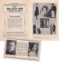 The Cave Girl Brochure (rubelcastle) Tags: henryscottrubel dorothyrubel dorothydeuel heinzrubel berwyn illinois cavegirl mortonhighschool elmernelson lavernevanagolan ruthtimroth 1929 il usa carl pfau carlpfau