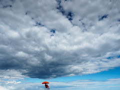 rain man (m_laRs_k) Tags: coney island usa nyc ny beach cloudscape olympus omd 1240 lifeguard orange blue natural 纽约 ньюйо́рк