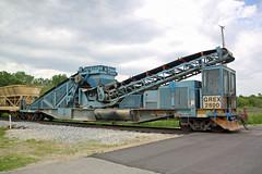 GREX 2800 follows the ballast train across Peschel Road (AndyWS formerly_WisconsinSkies) Tags: train railroad railway railfan canadianpacificrailway canadianpacific cprail cp rollingstock maintenanceofway mow