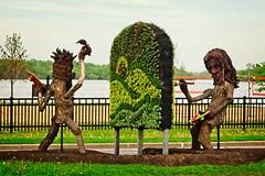 Living Art (steve.schlick) Tags: 52in2019 aworkofart vaudreuildorion quebec canada wood plants art sculptures on1pics myfujifilmlegacy assignment10