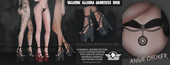 Val'More presents Allegra shoe at Black fair JUNE 13TH (Filippo Tutti - [Val'more]) Tags: valmore val more work 3d amazing pentagram instagram black fair kinky shoe knife second life secondlife