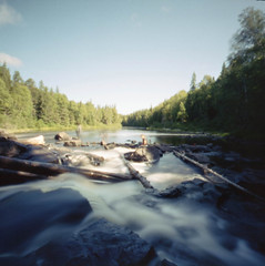 Only Memories Remain (facenorth) Tags: zeroimage2000 mediumformat cinestill50 120film longexposure milf manilovefilm waterfall tatachikapikariver pinhole pinholephotography lomography lomo c41 scan ishootfilm filmisnotdead analog analogue 6x6 northernontario timmins summer summervibes