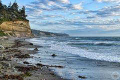 W. Beach Road Public Beach, Oak Harbor (SonjaPetersonPh♡tography) Tags: whidbeyisland wbeachroadpublicbeach washington stateofwashington pnw pacificnorthwest washingtonstate oceanside pacificocean nikon nikond5300 afsdxnikkor18300mmf3563gedvr beach shore tide waves wbeachroad clouds rocks driftwood rockybeach scenic scenery seascape