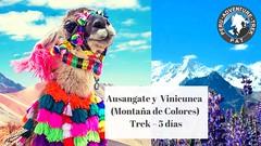 Explora la ruta ausangate y la montaña arco iris!! Esta ruta te abrirá paso a un fantástico paisaje rodeado de glaciares, montañas y lagunas en donde se impone el nevado más alto de Cusco el alto AUSANGATE.🌄 Durante el recorrido se (Peru adventure trek) Tags: ausangatetrek pat montañadecolores cuscoperu peruadventuretrek vinicunca rainbowmountain apuausangate turismocusco viajerosconsueño cordilleraperu