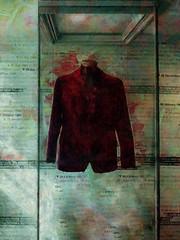 Jimi Hendrix's Jacket (Steve Taylor (Photography)) Tags: jimihendrix jacket cabinet dates fashion digitalart display museum red velvet glass uk gb england greatbritain unitedkingdom london texture 25brookstreet brookstreet mayfair