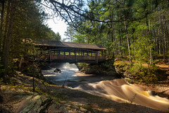 Bridge Over Amnicon Falls 20190526-_DSC2841 (Prairieworks Pictures) Tags: a7riii amniconfalls amniconstatepark bridge river wisconsin zeiss footbridge longexposure loxia loxia2421 slowshutter sony sonyalpha timeexposure waterfalls wter