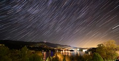 Night Movement Tremblant (Jeff Saly) Tags: night stars mountain star trails national park tremblant canada landscape nightscape nature lake peace peaceful serenity longexposure nationalpark sky