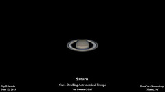Saturn_20190612_HomCavObservatory (homcavobservatory) Tags: homcav observatory saturn planet solar system rings 8inch f7 criterion newtonian reflector 3x televue barlow zwo asi290mc planetary camera autoguider losmandy g11 mount gemini 2 control astronomy astrophotography