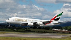 A6-EEP AIRBUS A380-800 (douglasbuick) Tags: emirates airways a380800 landing runway 23 glasgow egpf a6eep dubai flight d3000 nikon camera scotland aircraft plane airplane