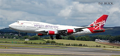 G-VGAL BOEING 747-400 (douglasbuick) Tags: gvgal boeing 747400 virgin atlantic airways landing runway 23 glasgow airport d3000 nikon aircraft plane airliner international flight scotland