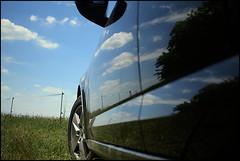 Spiegelung (Martin_Feller) Tags: himmel spiegelung wolken blau auto landschaft