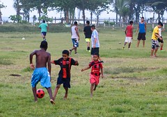 Big Kids, Little Kids (Michael Burke Images) Tags: soccer tortuguero spring costarica