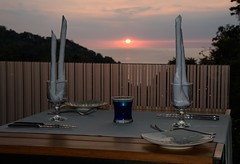 Table with a View (Michael Burke Images) Tags: manuelantonio quepos sunset dinner costarica