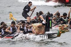 D5X_1283 (footeefok) Tags: singapore dragonboat marinabay watersports sports peoples water boats drums dbs dbsmarinaregatta dragonboatrace race