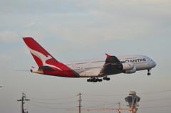 Qantas Airways A380-842 (VH-OQL) - Go Around (4) (hsckcwong) Tags: qantas qantasairways a380842 a380 vhoql lax klax
