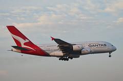 Qantas Airways A380-842 (VH-OQL) - Go Around (3) (hsckcwong) Tags: qantas qantasairways a380842 a380 vhoql lax klax