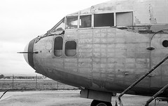 Fairchild C-119 Flying Boxcar (Michael VH) Tags: airplane restore march field museum fp4 ilford d76 leica iiic