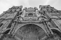 Astorga Cathedral (stevebanfield) Tags: caminodesantiago delta400 iso400 nikon cathedral church bw film nikonfm2 spain monochrome scan filmisnotdead fm2 astorga architecture ilfordphoto ilford blackandwhite pandalab