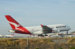 Qantas Airways A380-842 (VH-OQI) LAX Approach 4 (hsckcwong) Tags: qantas qantasairways a380842 a380 vhoqi lax klax