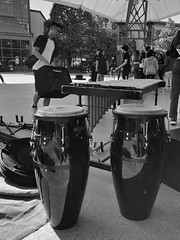 The Set Up (Cindy's Here) Tags: thesetup drums bw theforks winnipeg manitoba canada iphone hsos music musical