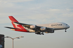 Qantas Airways A380-842 (VH-OQL) LAX Approach 2 (hsckcwong) Tags: qantas qantasairways a380842 a380 vhoql lax klax