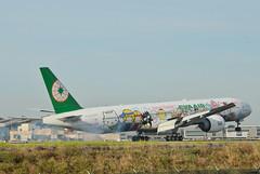 EVA Airlines  Hello Kitty Sanrio Family Livery 777-35E(ER) (B-16703) LAX Landing 2 (hsckcwong) Tags: evaairlines eva hellokittysanriofamilylivery 77735eer 777300er 777300 b16703 lax klax