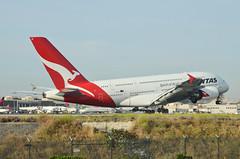 Qantas Airways A380-842 (VH-OQI) LAX Landing 1 (hsckcwong) Tags: qantas qantasairways a380842 a380 vhoqi lax klax