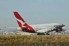 Qantas Airways A380-842 (VH-OQI) LAX Landing 2 (hsckcwong) Tags: qantas qantasairways a380842 a380 vhoqi lax klax