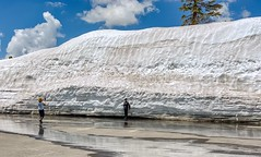 Lassen Volcanic National Park in the Cascade Mountain Range of Northern California:  Evidence of the record snowfall which has delayed the opening of the park road. (lhboudreau) Tags: