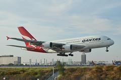 Qantas Airways A380-842 (VH-OQI) LAX Approach 1 (hsckcwong) Tags: qantas qantasairways a380842 a380 vhoqi lax klax