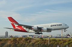 Qantas Airways A380-842 (VH-OQI) LAX Approach 2 (hsckcwong) Tags: qantas qantasairways a380842 a380 vhoqi lax klax