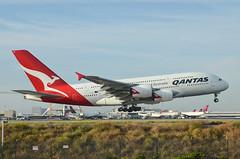 Qantas Airways A380-842 (VH-OQI) LAX Approach 3 (hsckcwong) Tags: qantas qantasairways a380842 a380 vhoqi lax klax