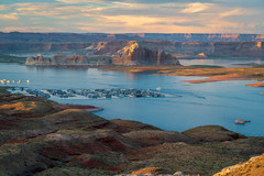 Blue hour at Lake Powell (robinson_d70) Tags: grandcanyonwdiana pagewdiana page az lakepowell