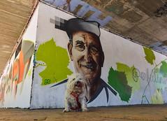 """""""El amor es la emoción que una mujer siente siempre por su perro , y a veces por un hombre"""". (Elena m.d. +10.3 Millions views.) Tags: nikon street tokina1116 guadalajara tula grafitti arteurbano"""
