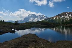 Il laghetto effimero (paolo-p) Tags: montagna mountain acqua water laghi lakes nuvole clouds caserarazzo vigodicadore riflessi reflections